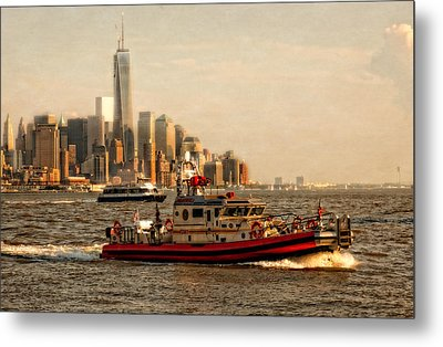 Lower Manhattan New York Metal Print by Linda Karlin