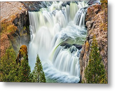 Lower Mesa Falls Metal Print