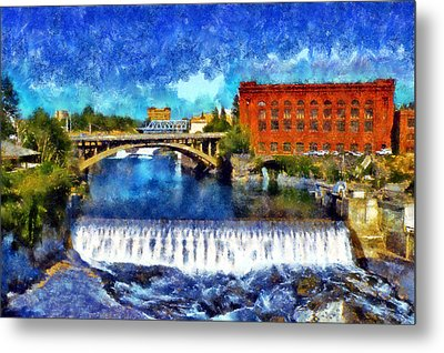 Lower Spokane Falls Metal Print