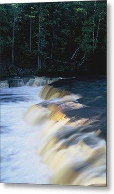 Metal Print featuring the photograph Lower Tahquamenon Falls by Randy Pollard