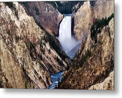 Lower Yellowstone Falls Metal Print by Bill Gallagher