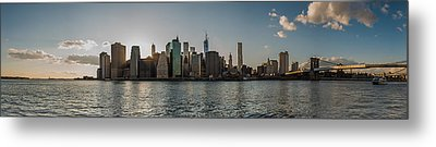 Metal Print featuring the photograph Lowerr Manhattan Panoramic by Chris McKenna