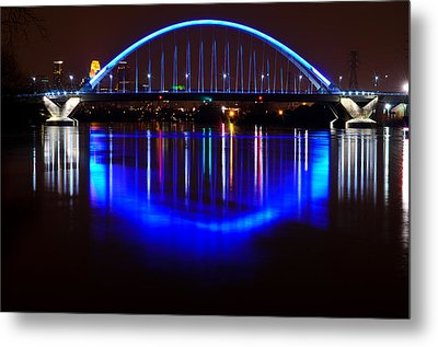 Metal Print featuring the photograph Lowry Bridge by RC Pics