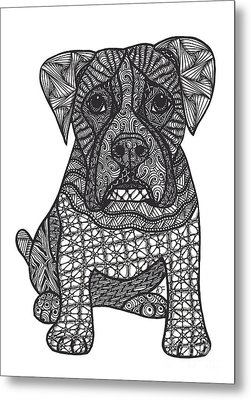 Loyalty- Boxer Dog Metal Print by Dianne Ferrer