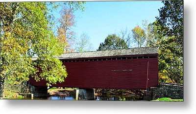Loy's Station Covered Bridge Metal Print