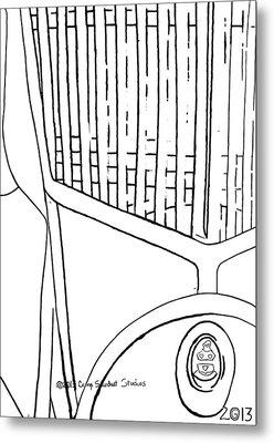 Ls-143-1-ls-'yellow Or' Metal Print