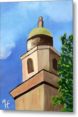 Metal Print featuring the painting Lsu Memorial Tower by Margaret Harmon