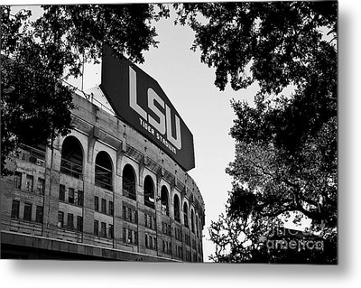 Lsu Through The Oaks Metal Print by Scott Pellegrin