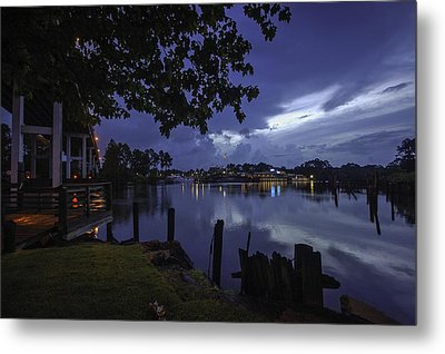 Metal Print featuring the digital art Lu Lu S Before The Storm by Michael Thomas