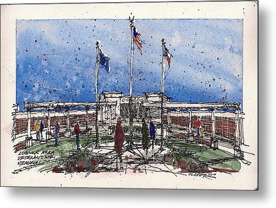 Metal Print featuring the mixed media Lubbock Area Veterans War Memorial by Tim Oliver