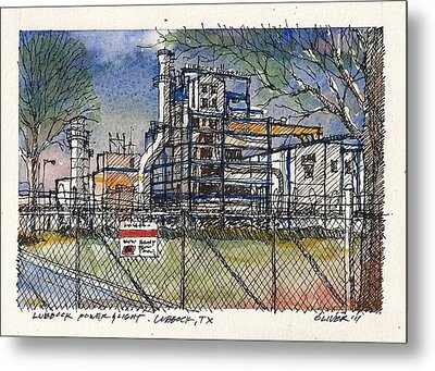 Metal Print featuring the mixed media Lubbock Power And Light by Tim Oliver