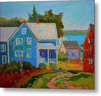 Lubec Village Metal Print