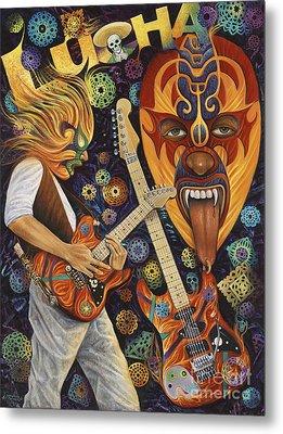 Lucha Rock Metal Print by Ricardo Chavez-Mendez