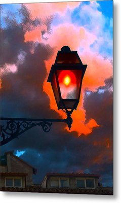 Metal Print featuring the digital art Luci Di Roma by Sandro Rossi
