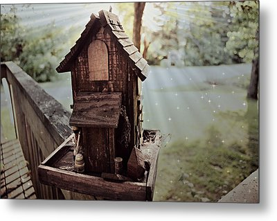 Lucid Bird House Metal Print