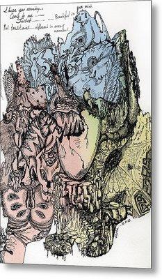 Lucid Mind - 3 Metal Print by Alexandra Louie