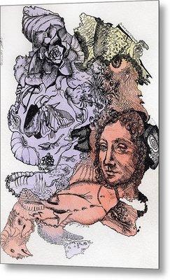 Lucid Mind - 4 Metal Print by Alexandra Louie