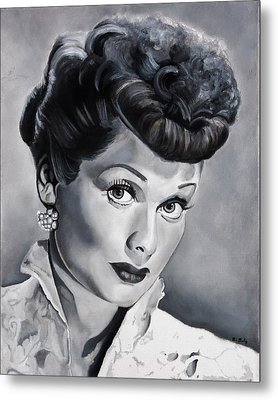 Lucille Ball Metal Print by Brian Broadway