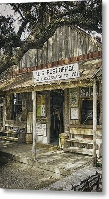 Luckenbach Metal Print by Scott Norris