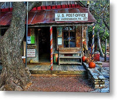Luckenbach Texas Metal Print by Judy Vincent