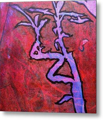Lucky Bamboo Metal Print by Debi Starr