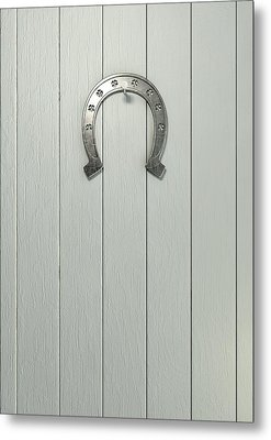 Lucky Horseshoe Entrance Metal Print by Allan Swart