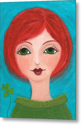 Metal Print featuring the painting Lucky by Lisa Noneman