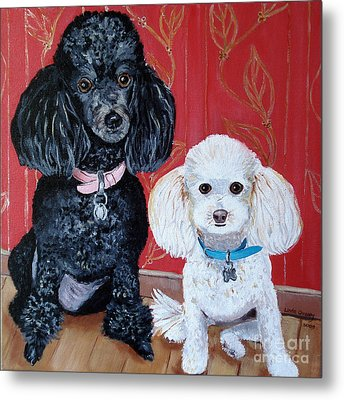Lucy And Leopold Metal Print by Linda Queally