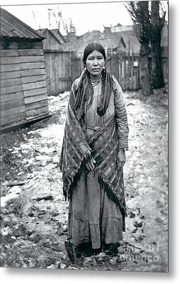Lucy From The Yakama Tribe 1912 Metal Print by Mary Mires