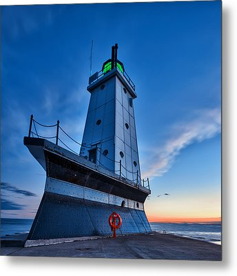 Metal Print featuring the photograph Ludington Lighthouse by Sebastian Musial