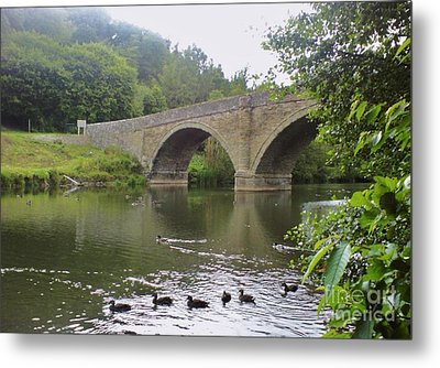 Metal Print featuring the photograph Ludlow Bridge by John Williams