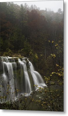 Ludlowville Falls In Autumn I Metal Print