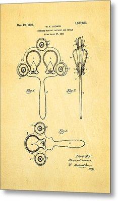 Ludwig Castanet Patent Art 1925  Metal Print by Ian Monk