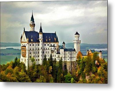 Neuschwanstein Castle In Bavaria Germany Metal Print