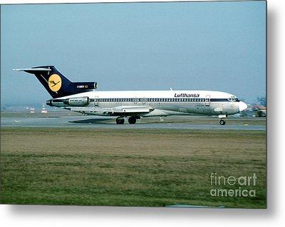 Lufthansa Boeing 727 Metal Print by Wernher Krutein