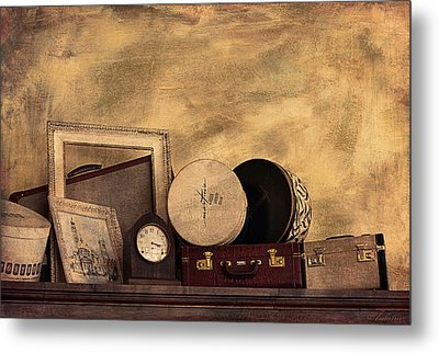 Luggage And Memories Metal Print by Maria Angelica Maira