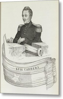 Luis Carrera Metal Print by British Library