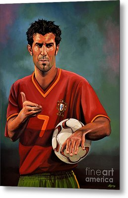 Luis Figo Metal Print by Paul Meijering