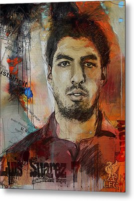 Luis Suarez Metal Print by Corporate Art Task Force