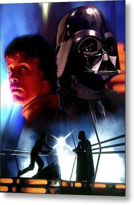 Luke Skywalker Vs Darth Vader Metal Print