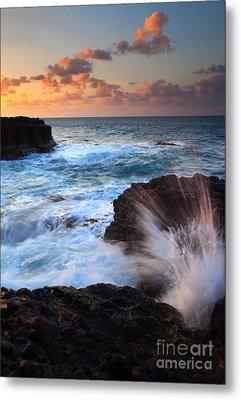 Lumahai Sea Explosion Metal Print by Mike  Dawson