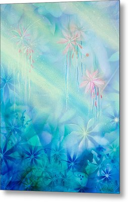 Luminous Garden Metal Print by Michelle Wiarda