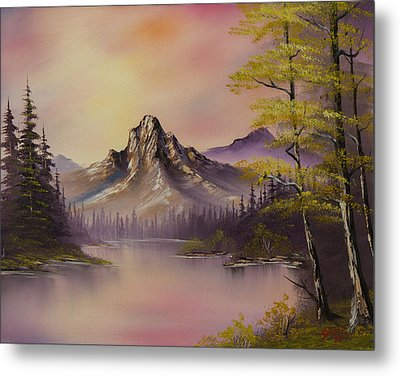 Luminous Lake Metal Print by C Steele