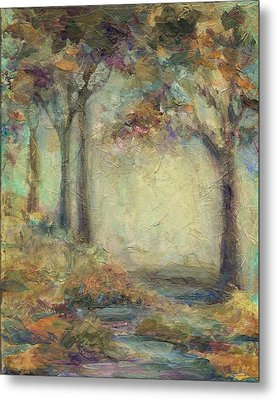 Metal Print featuring the painting Luminous Landscape by Mary Wolf