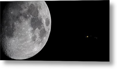 Metal Print featuring the photograph Luna And Jupiter by Jason Politte
