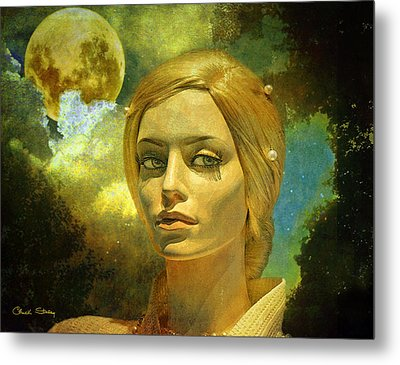Luna In The Garden Of Evil Metal Print by Chuck Staley