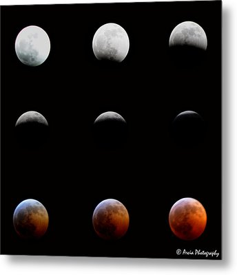 Lunar Eclipse Metal Print