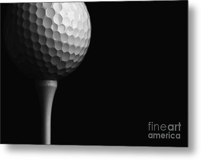 Lunar Golf Metal Print