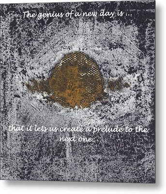 Lunar Sun Metal Print by Lesley Fletcher