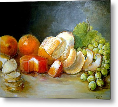 Metal Print featuring the painting Luncheon Delight - Still Life by Bernadette Krupa